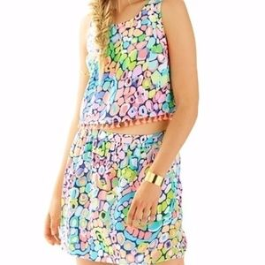 Lilly Pulitzer Brinley Top Gypsy Jungle Cropped