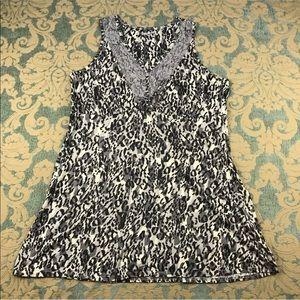 Covington Leopard Sleeveless Tunic 🌺