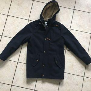 Men's OLD NAVY like new wool like sherpa coat.