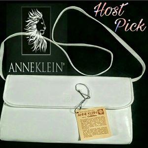 NWOT Anne Klein by Calderon, white leather purse