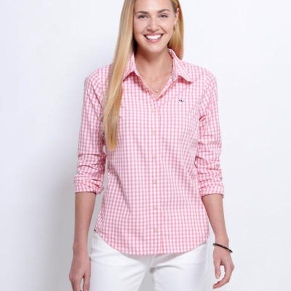 aecc08056 Vineyard Vines Tops   Womens Pink Gingham Button Down   Poshmark