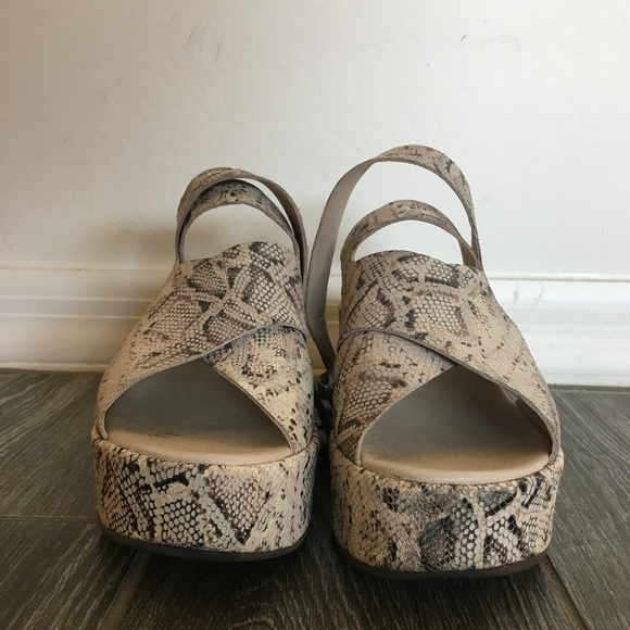 Snakeskin Matisse Platform Sandals