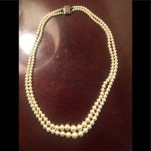 Vintage pearl necklace.