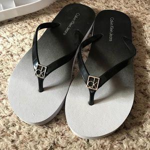 Calvin Klein flip flops