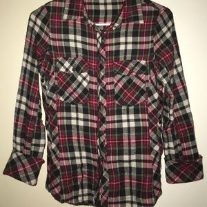 Flannel Shirt Small Button Down Drew