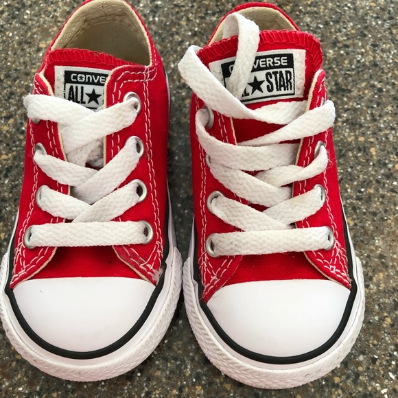 97c258a53a71 Converse Other - Red converse size 5 toddler