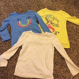 Three Long sleeve 4t shirts