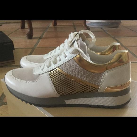 0ad0bb0053ed 🆕Michael Kors Allie Mixed-Media Trainer Sneaker