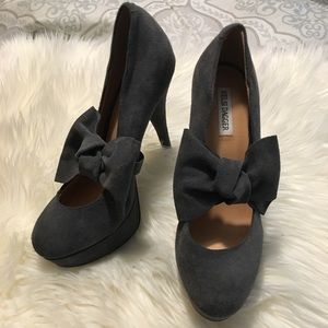 New grey suede Kelsi Dagger heels