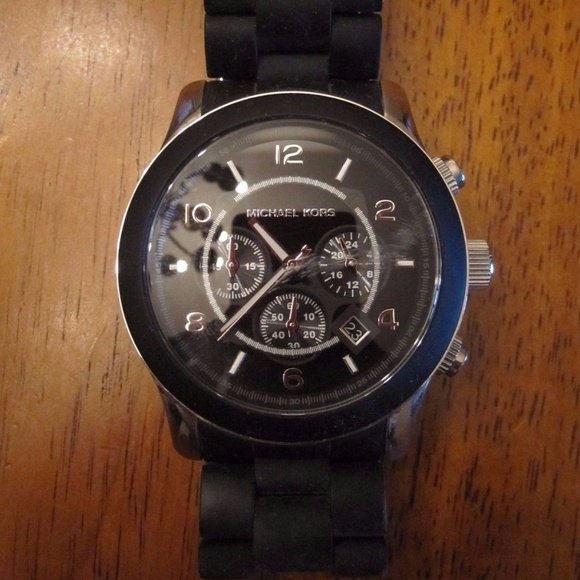 60f024be0832 ... BLACK RUBBER BAND WATCH MK 8107. M 5a033778981829d8fc06c9a9