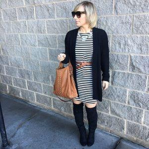 Dresses & Skirts - | classic b&w striped dress |