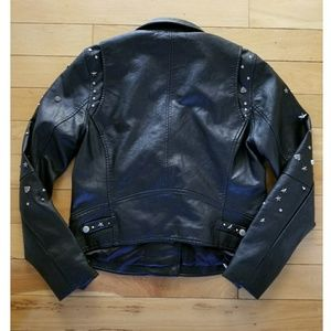 Blank NYC Jackets & Coats - Blank NYC black studded stars faux leather jacket