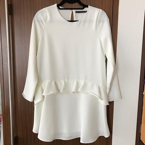 bb78697c8e9 NEW Zara White Mini Dress