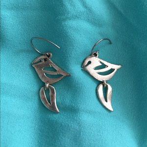 Fossil Chubby Bird Drop Earrings