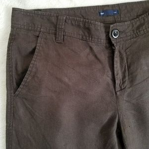 GAP 100% linen wide leg pants