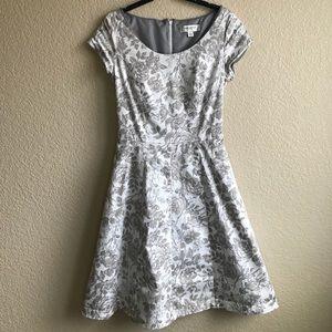 Isaac Mizrahi A-Line Cap Sleeve Floral Dress