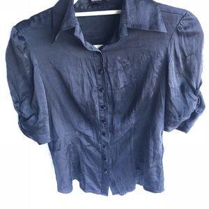 🔵Bebe silk black blouse