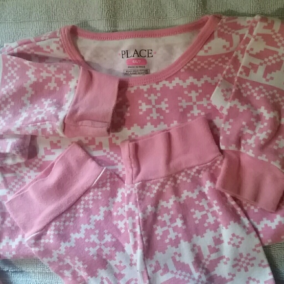 71% off The Children's Place Other - Pink & White Fair Isle ...