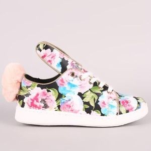 Shoes - Women's sneakers with adorable puff tail & ears