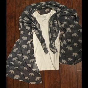 Grey White Elephant Scarf Wrap Cover-Up ... 9d3f389c6