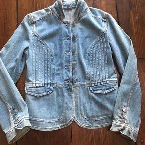 J.jill military inspired denim jacket