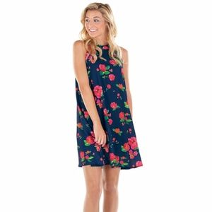 3c3d157d2aa8c Mud Pie Dresses | Mudpie Sawyer Swing Dress Midnight Floral New ...