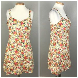 Tulle Cotton Cream Country Floral Tank Dress