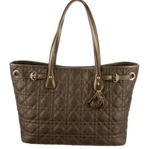 Christian Dior Cannage Coated Canvas Tote