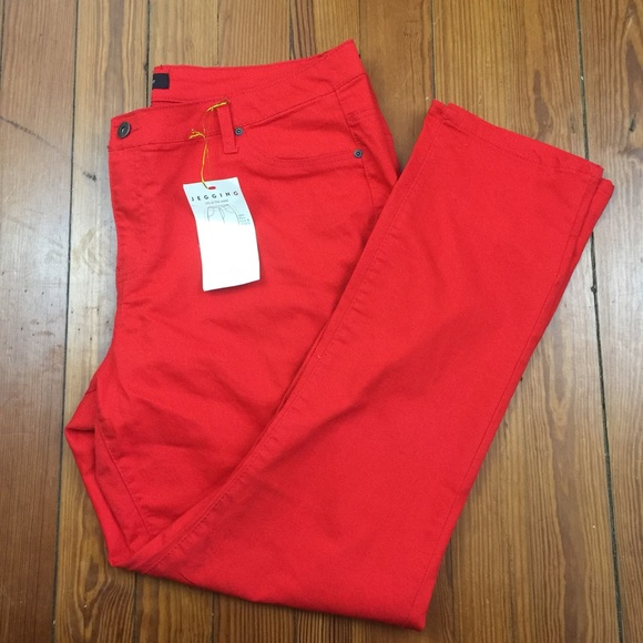 66518e73d28c5 Ashley Stewart Jeans | Plus Size Red Jeggings Size 20 | Poshmark