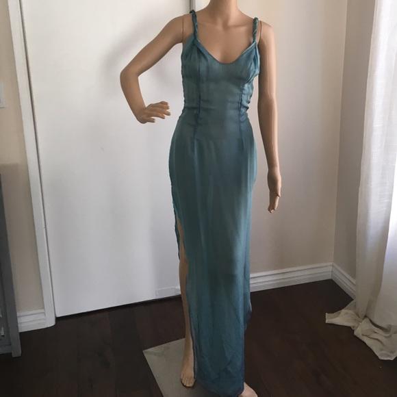 Richard Tyler Couture Dresses & Skirts - RICHARD TYLER AQUAMARINE SILK DRESS