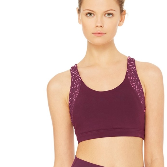 a1dd6bbf3d ALO Yoga Tops | Pattina Bra Juneberrybuff | Poshmark