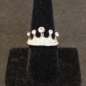 Jewelry - GOLD & CRYSTAL CROWN RING