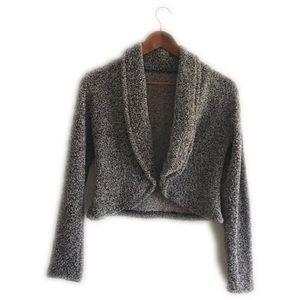 Tops - Thick gray soft crop coat