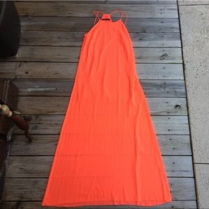 Ark & Co Neon Coral maxi dress