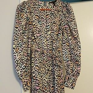 Bcbg Colorful Leopard Dress