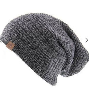 4c84429b0 Men's Reversible Space Dye Knit Slouch Beanie NWT