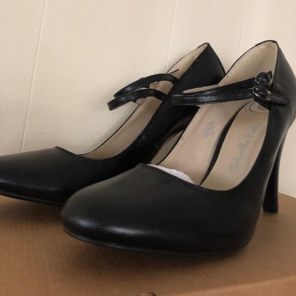 Gabriella Rocha Shoes - Gabriella Rocha Black Mary Jane Ankle Strap Heels