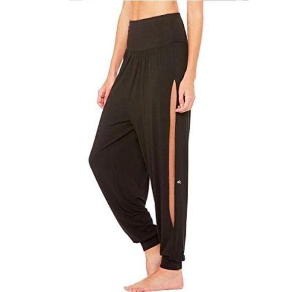 b7a722ed54db6 ALO Yoga Pants   Nwt Black Intention Slit Side   Poshmark