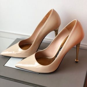 Tom Ford Patent Leather Pump Gold Heel