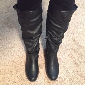 Brand New Bamboo Black Boots Size 10