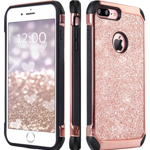 save off bbfb3 6bd83 SUPER CUTE IPHONE 7S PLUS CASE! Pink glitter case NWT