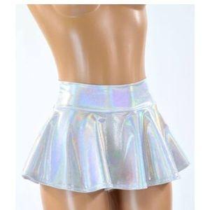 Holographic rave mini skirt