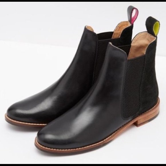 Joules Westbourne Black Leather Chelsea