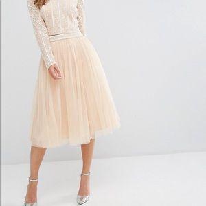 Maya tulle midi skirt with embellished waist