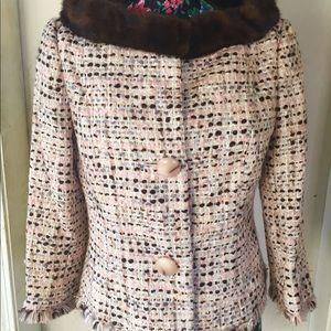 💕 NWT mink collar jacket