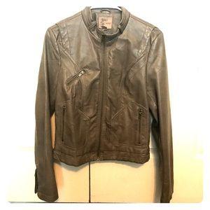 Mine taupe/gray Vegan Leather Jacket Size L