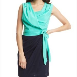 Suzi Chin faux wrap dress.