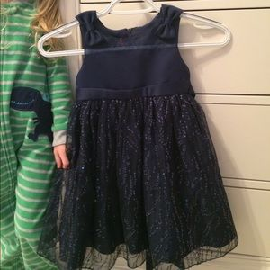 Blue holiday dress