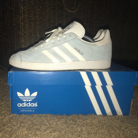 adidas scarpe taglia 10 gazzella bambino bluewhitegold poshmark