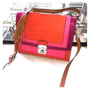 New - Pink, orange and purple Melie Bianco bag